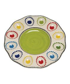Take a look at this Caffco Happy Together Egg Plate by Vibrant Entertaining Collection on #zulily today!
