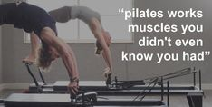 Pilates is an exercise system targeted at developing flexibility and core strength as well as promoting total body balance. Pilates is so versatile that it can be performed by senior citizens and seasoned athletes who may reap its rewards. Pilates was. Pilates Body, Pilates Barre, Pilates Studio, Pilates Reformer, Pilates Workout, Workouts, Yoga Positions For Beginners, Pilates For Beginners, Exercises