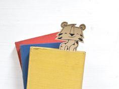 Papier & carton, Booktiger - a bookmark est une création orginale de littlePrintStore sur DaWanda