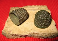 Medieval beehive thimbles from 14thC