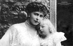 Queen Marie of Romania with her son, circa 1900.