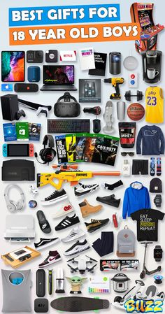 See 100+ teen boy gifts for 18 year old boys. Discover COOL and unique gifts for Birthdays, Christmas, and other occasions for your 18 year old teen boy. #birthdaygifts #christmasgifts Teen Boy Birthday Gifts, Birthday Gifts For Boyfriend Diy, Creative Birthday Gifts, Christmas Gifts For Boyfriend, Boyfriend Gifts, 31 Birthday, Cool Gifts For Teens, Christmas Gifts For Teen Girls, Gifts For Teen Boys