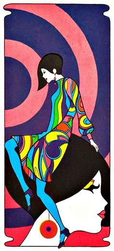 My memories of Mod Fashion - image vintage fashion ad - creative commons - read at http://boomerinas.com/2013/01/60s-fashion-style-1964-mod-dresses-go-go-boots-quant-beatles/