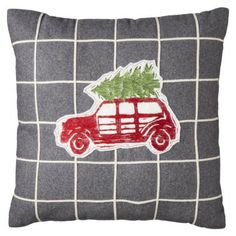 Threshold™ Car with Tree Decorative Pillow - 18x18""