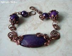 Purple Dragon Lace Agate Bracelet  DrakonaOOAK by RainwaterStudios, $18.00