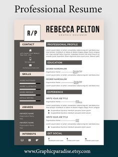 Professional Resume Template | Modern CV Template for Word | Cover Letter | Clean Modern Resume Template | Mac & PC |Instant Download#resumeexpert #resumetemplates #resumereview #coverletter