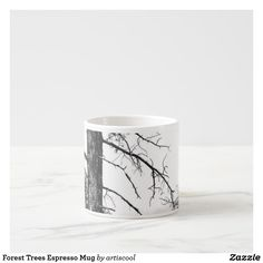 Forest Trees Espresso Mug Personalized Products, Custom Mugs, Espresso, Tea Cups, Coffee Mugs, Candle Holders, Trees, Candles, Amazing