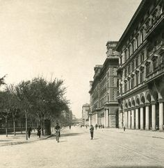 Italy Roma Vittorio Emanuele Square Old NPG Stereo Photo 1900 Contemporary Photographers, Bed And Breakfast, Vintage Photos, Rome, Past, Photo Galleries, Louvre, Street View, In This Moment