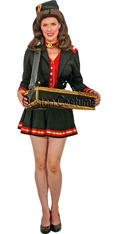 More conservative for SSB workers' outfits: black skirt + red shirt + gold accessories. Make tray: paint paper box lid black w/ gold outline + strap. Diy Halloween Costumes For Girls, Diy Costumes, Girl Halloween, Halloween 2016, Spirit Halloween, Adult Costumes, Costume Ideas, Casino Dress, Casino Outfit