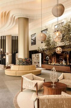 8 de los mejores hoteles & spa para tu boda en México, DF: El destino más chic Office Interior Design, Luxury Interior Design, Interior Design Inspiration, Design Ideas, Hall Hotel, Hotel Spa, Hotel Lobby Design, Interior Columns, Estilo Tropical