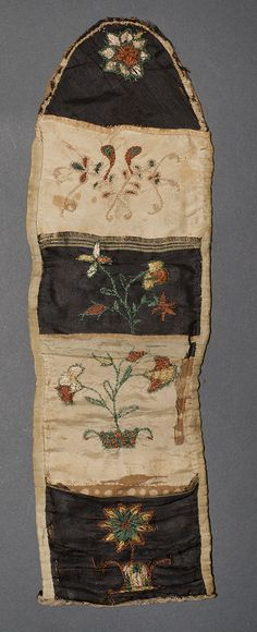 1966.1363 Sewing Roll Place of Origin: United States, North America Date: 1775-1825 Materials: Silk; Linen