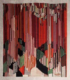 * Frantisek KUPKA (1871-1957) d'après  Étude pour le langage des verticales    Tapisserie en laine