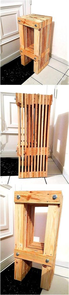 recycled pallets stool