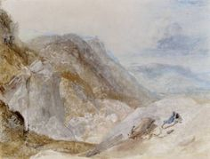 Joseph Mallord William Turner 'Valley of the Wharfe', c.1818 -  Watercolour, bodycolour and gum arabic on paper -  Dimensions Support: 340 x 450 mm -  Collection Private collection -  © Photo courtesy of Sotheby's