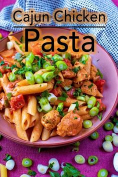 Spice up your usual creamy pasta dishes with a simple Cajun twist. This Cajun Chicken Pasta is ready in under 30 minutes and low in fat too. Quark Recipes, Beef Recipes, Cajun Recipes, Cheese Recipes, Recipies, Quick Pasta Recipes, Healthy Dinner Recipes, Noodle Recipes, Delicious Recipes