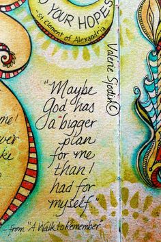 visual blessings - quote from Hope Journal