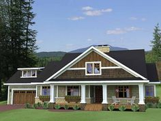 Traditional House Plan with 1999 Square Feet and 3 Bedrooms from Dream Home Source | House Plan Code DHSW75597...LOVE THIS!!!