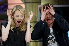 Emma Stone wore the Geode Necklace for her appearance on Madrid Talk Show, El Hormiguero.