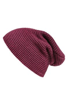 New season, new accessories! Love the rich color of this burgundy Steve Madden waffle knit beanie.
