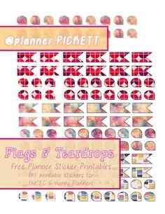 free functional pretty pattern free sticker printable , diy planner stickers @planner.PICKETT