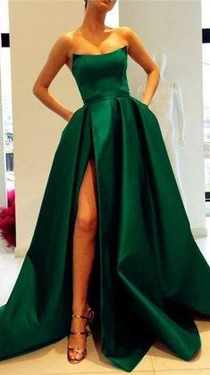Dresses Uk, Satin Dresses, Strapless Dress Formal, Fashion Dresses, Teal Prom Dresses, Bridesmaid Dresses, Elegant Dresses For Women, Party Gowns, Dress Party