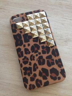 Studded Cheetah iPhone Case