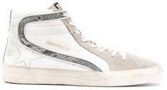 Golden Goose Deluxe Brand Men's White Leather Hi Top Sneakers.