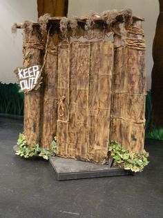 Shrek's House- We could also take the door off and put the screen in for fiona's transformation