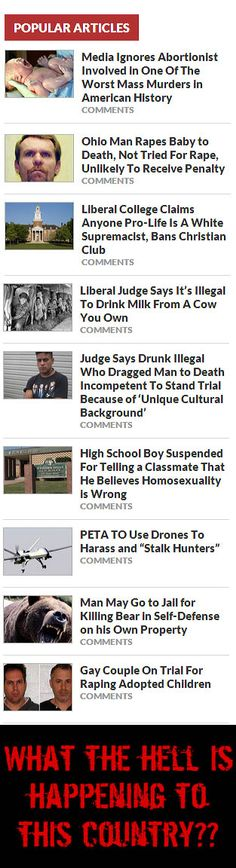 Seriously, people, just look at the headlines... It's like half the country (if not more) has gone completely insane!