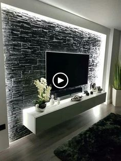 Wohnzimmer TV Decken Schöne & & inner adorning Supply through Living Room Tv Unit Designs, Ceiling Design Living Room, Home Design Living Room, Tv Wall Design, Living Room Decor, House Design, Design Bedroom, Modern Tv Wall, Modern Living