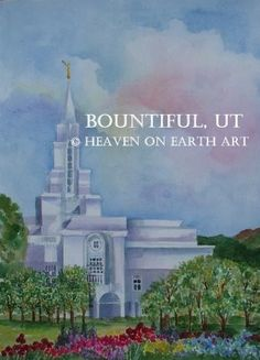 My grandma's awesome painting of the Bountiful Utah Temple