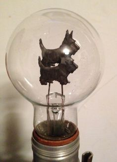 Antique Vintage 1930 Figural Scottie Scottish Terrier Dog Light Bulb Working   eBay