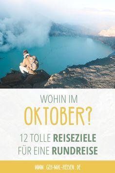 Entdecke die besten Reiseziele im Oktober! Wo kann man im Oktober am besten Urlaub machen? Wir zeigen dir unsere Lieblings-Reiseziele auf unserem Blog! #gehmalreisen #reiseziele #reisetipps Belize, Taiwan, Peru, Chile, Movies, Movie Posters, Videos, Blog, Pictures