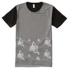 Halloween T-Shirt with Ghosts - fun gifts funny diy customize personal