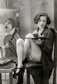 L'artiste, French postcard c1925