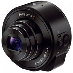 Check out this cool new camera! You attach it to your smartphone and use your phone to control it. Sony DSC-QX10 Lens-Style Camera