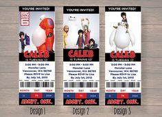 Big Hero 6 Disney Big Hero 6 movie Birthdya by Onthegoprints
