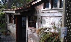 Shipwrecks as guest rooms. Howard Creek Ranch. Westport, CA.