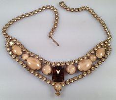 DEADSTOCK 1950s Vintage RHINESTONE Collar by thepopularjewelry, $39.00