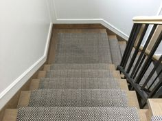 CAVALCANTI Stair runner in Herringbone design. Flatwoven with pure New Zealand wool. Available in bespoke colours and sizes. Suitable for stair runners, wall to wall carpets and loose lay rugs.