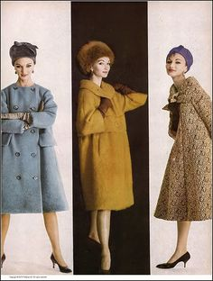 Evelyn Tripp, l to r: blue wool coat by Originala, golden … | Flickr