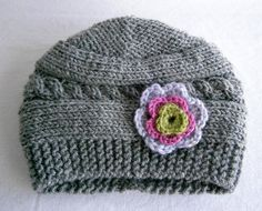 Baby Girl Hat  Baby Girl Knit Hat  Knit Newborn by PrettyBagsByMia, $16.90