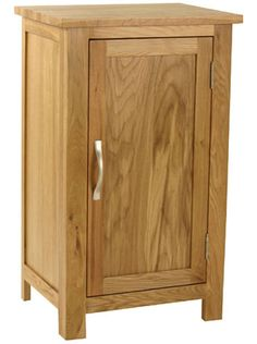 Carne - Oak Small Cupboard One Door / Shelf Inside / Narrow / Mini Oak Cabinet Wall Display Cabinet, Small Bookcase, Tall Cabinet Storage, Bookcases For Sale, Cupboard, Oak Cupboard, Oak Cabinets, Slim Bookcase, Small Cupboard