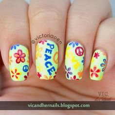 Vic and Her Nails: The Digital Dozen Does Decades - Day 2: Hippie