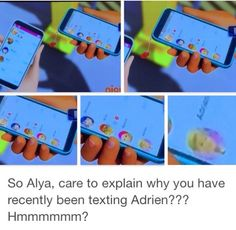 Hey Alya, why don't you click on that unread message from Nino? WHY WAS SHE TEXTING ADRIEN!?!?!