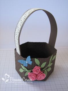 Easter basket made from milk carton