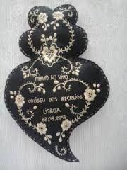 Resultado de imagem para bordado coração de viana