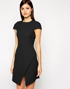 ASOS Dress in Bonded Crepe with Asymmetric Hem - This bonded crepe dress is perfect for an interview, or just for work… and during the winter you can layer it up with a cosy jumper for casual days  http://asos.do/X6ESYR