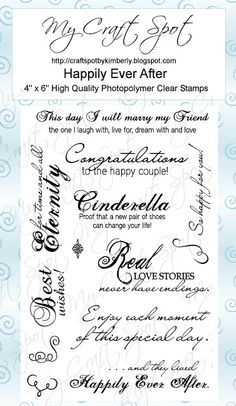 My Craft Spot - Happily Ever After