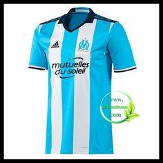 Fotballdrakter Olympique de Marseille Tredjedraktsett 2016-2017 Shirt Shop, T Shirt, Football Kits, Football Soccer, Adidas, Athletic Tank Tops, Blue And White, Sweatshirts, Fitness